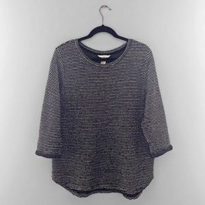 H&M   Black and White Woven Sweater
